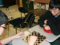 Students participating in board games