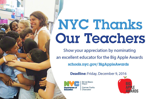 NYC Thanks Our Teachers