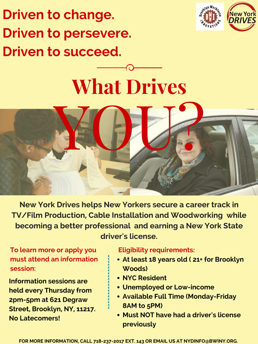 Visit us online at http bwiny org new york drives overview