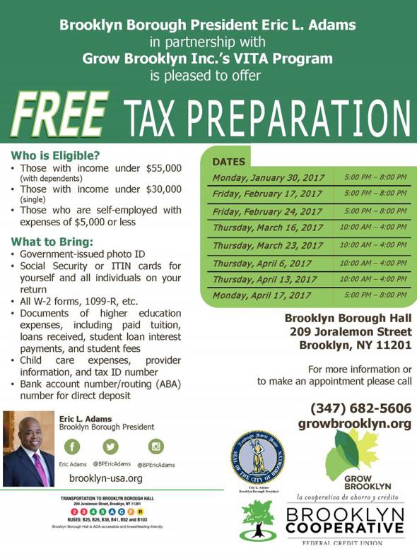 Free tax preparation john dewey high school