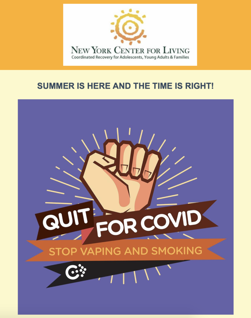 This summer commit to health: Vaping Cessation Program