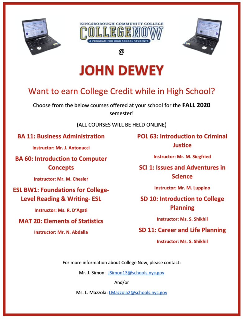 Want to earn College Credit while in High School? College Now Program Guide