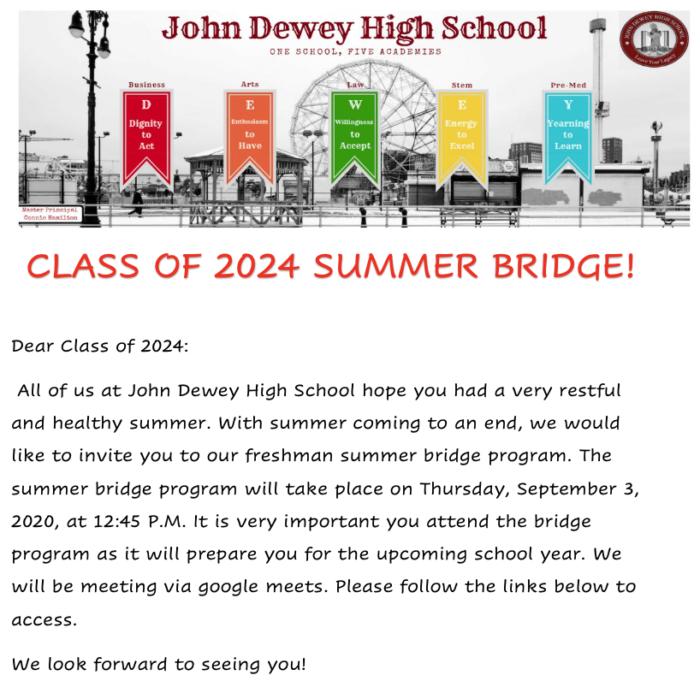 John Dewey Summer Bridge - P1