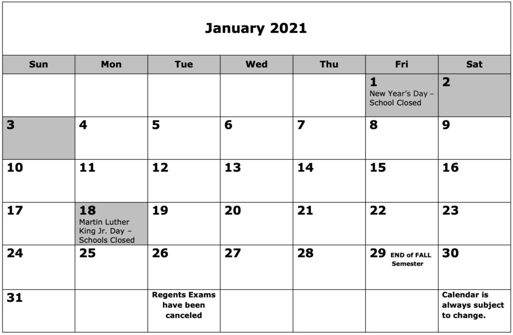 School Calendar 01