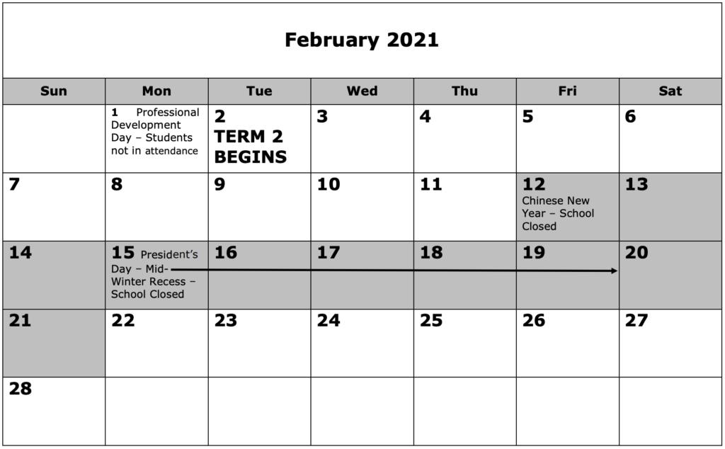 School Calendar 02