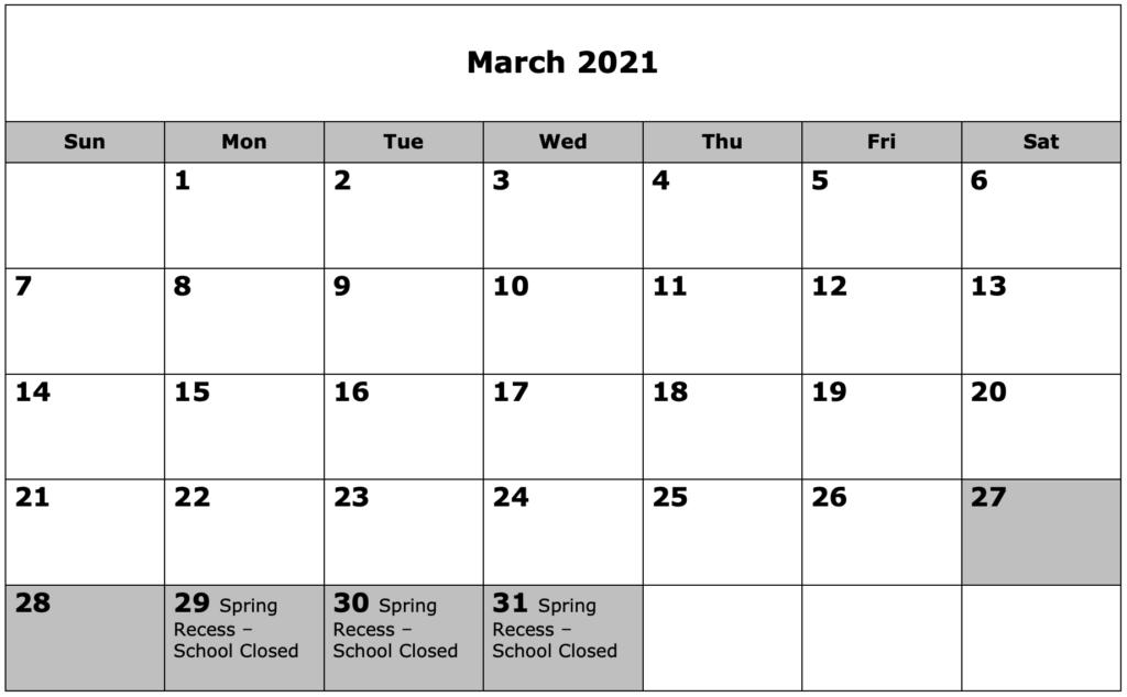 School Calendar 03