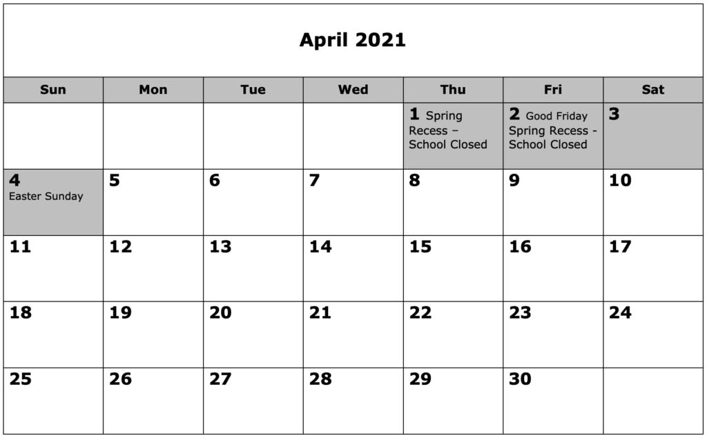 School Calendar 04