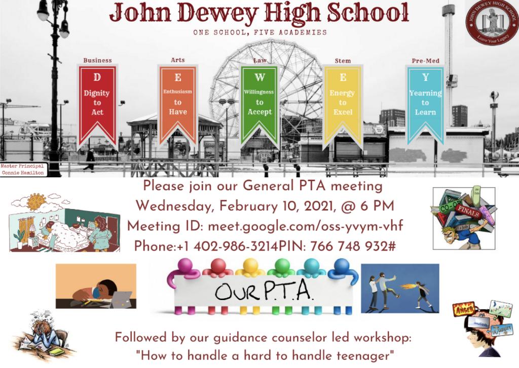 PTA Meeting - Wednesday, February 10th, 2021