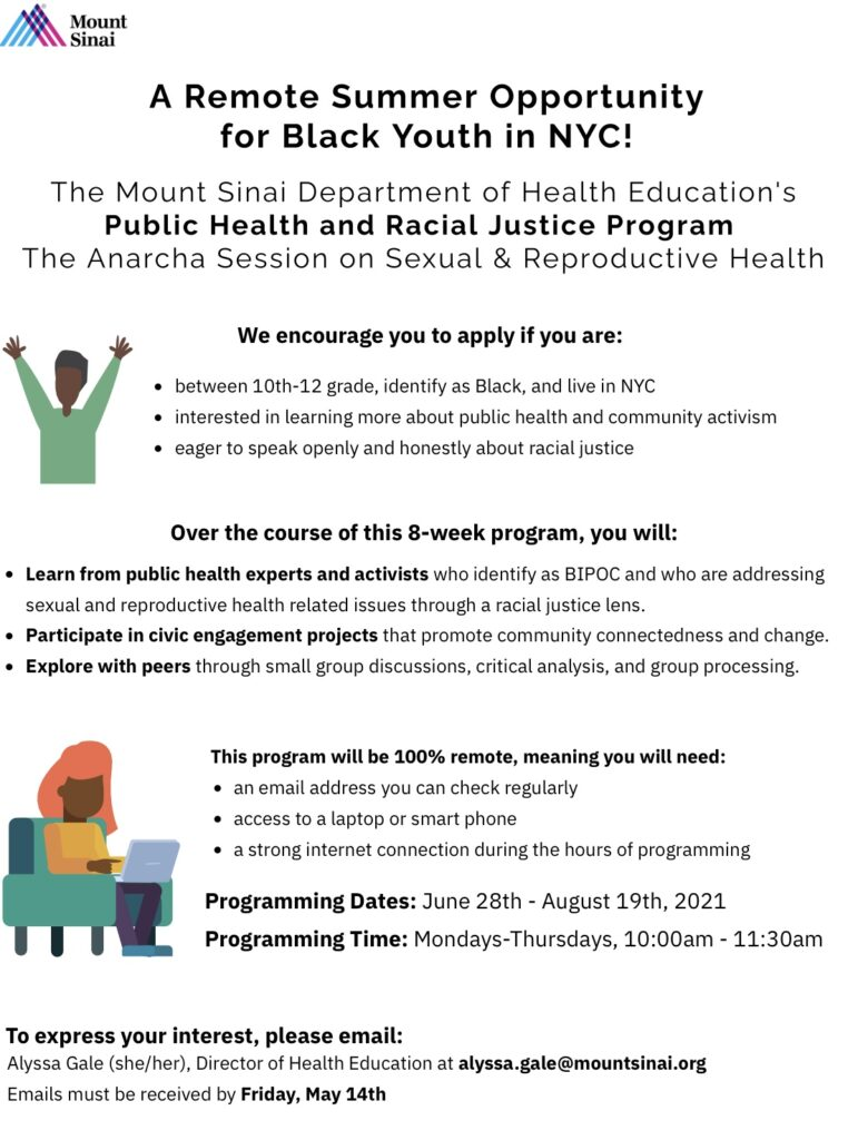 Remote summer opportunity for black youth in NYC.